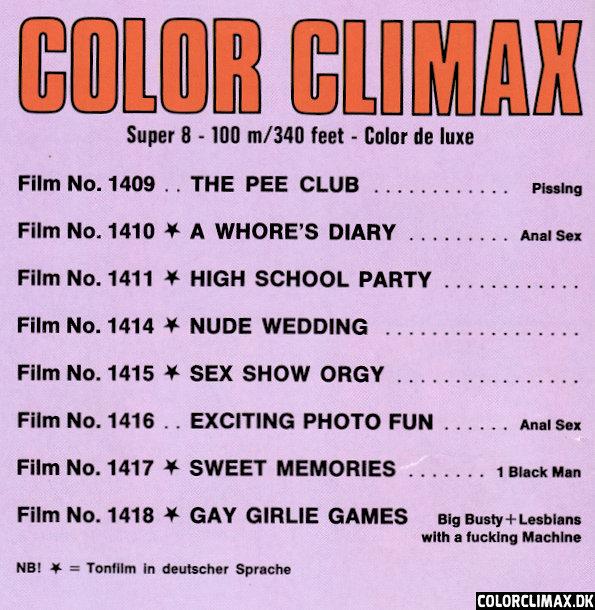 Film color no climax Color Climax